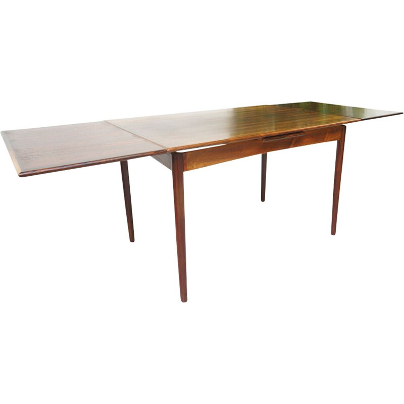 Vintage rosewood extending dining table 1960