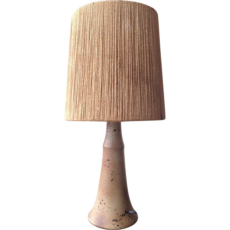 Vintage sandstone and ceramic lamp 1970