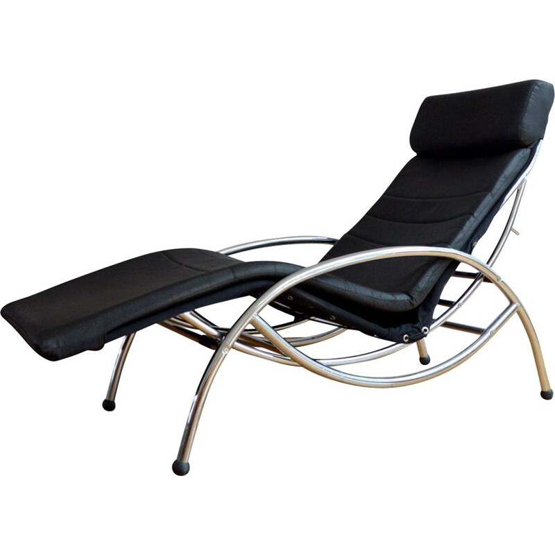Vintage long rocking and lounge chair 1970