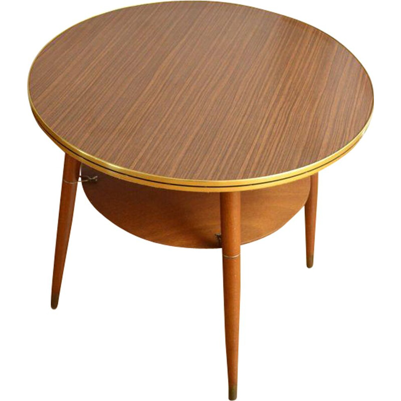Vintage round coffee table 1950