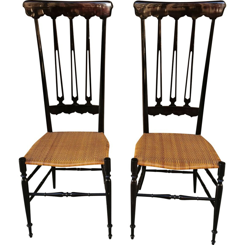 Set of 2 vintage chairs Chiavari Midcentury 1950