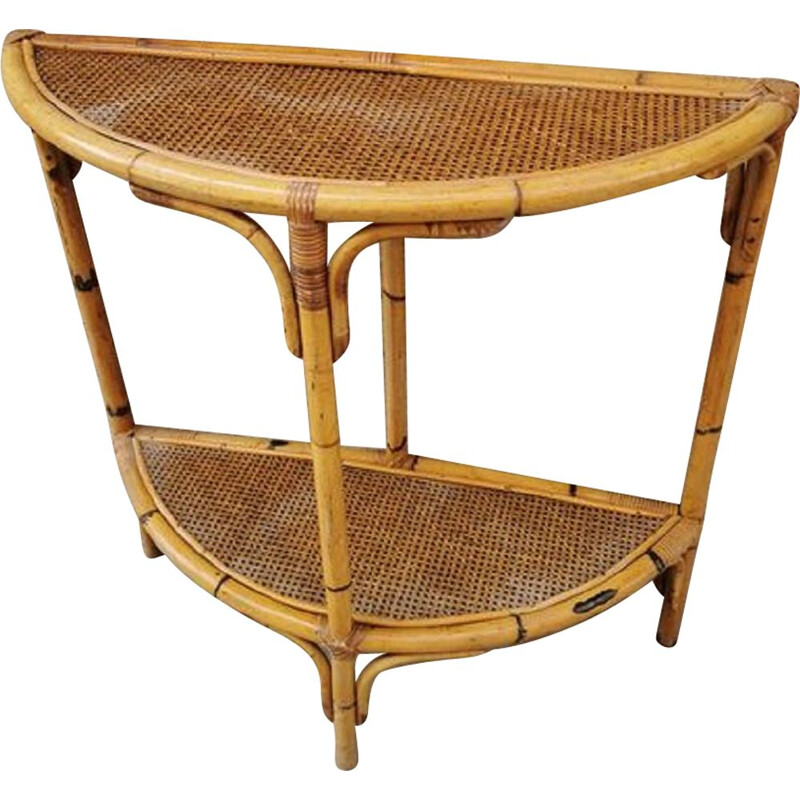 Vintage console in Bamboo and Rattan 1960