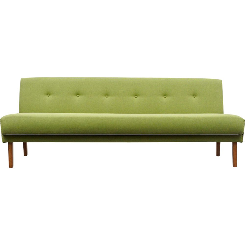 Vintage sofa fold-out daybed, professionally reupholstered 1960