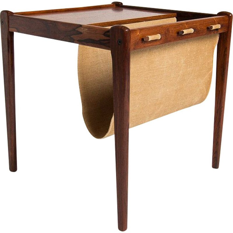 Vintage rosewood side table magazine mack, Danish 1960