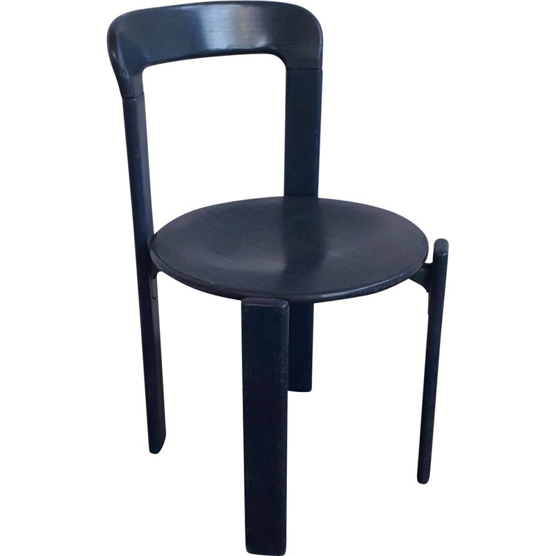 Several vintage Bruno Rey stacking chairs Produced by Dietiker