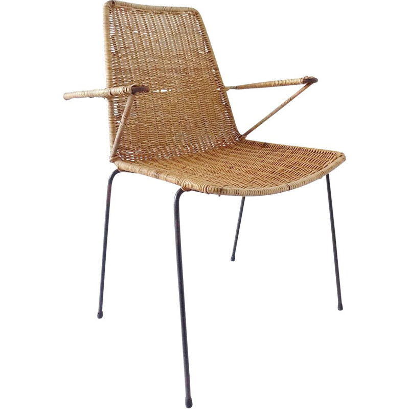 Vintage basket chair by Gian Franco 1950