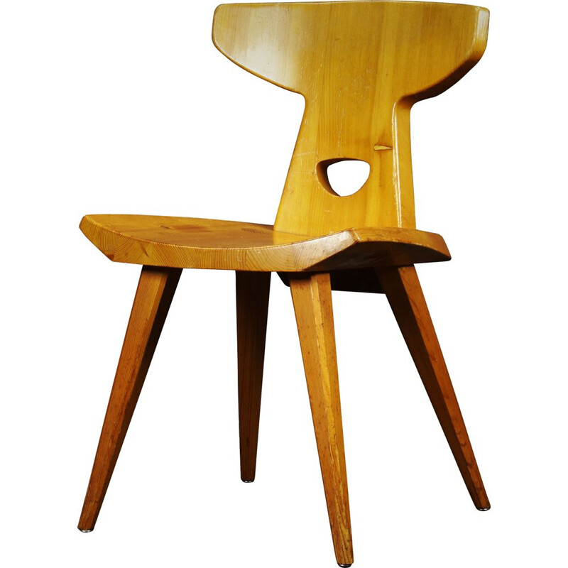 Vintage oak chair, 1970