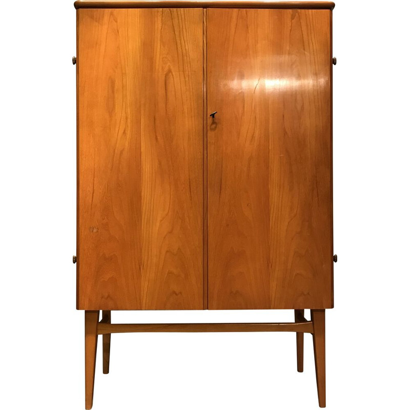 Vintage teak wardrobe with drawers, Denmark, 1960s