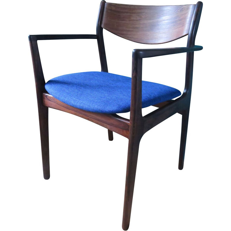 Vintage straight chair in rosewood Denmark 1960