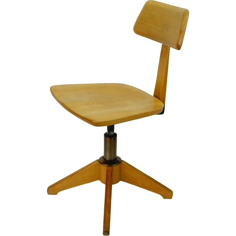 Vintage office chair rotatable by Sedus 1950