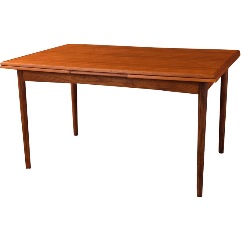 Vintage dining table in teak, scandinavian design, 1960