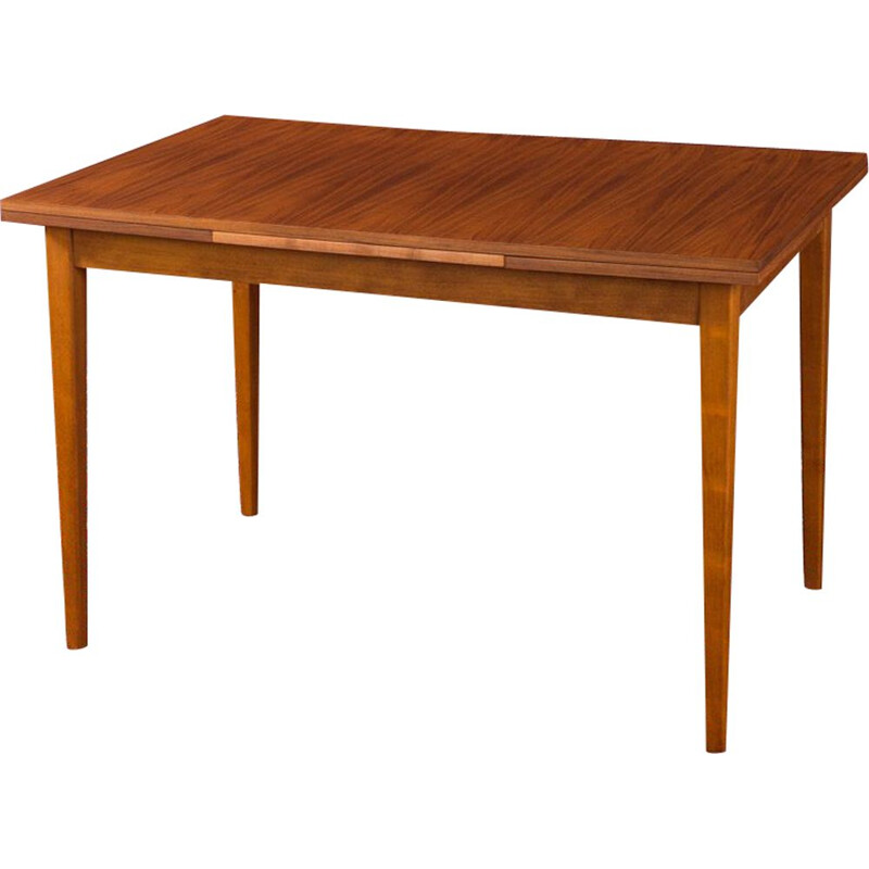 Vintage dining table in walnut by Lübke, 1960s