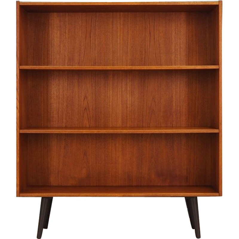 Vintage bookcase in teak, scandinavian design, 1960-1970