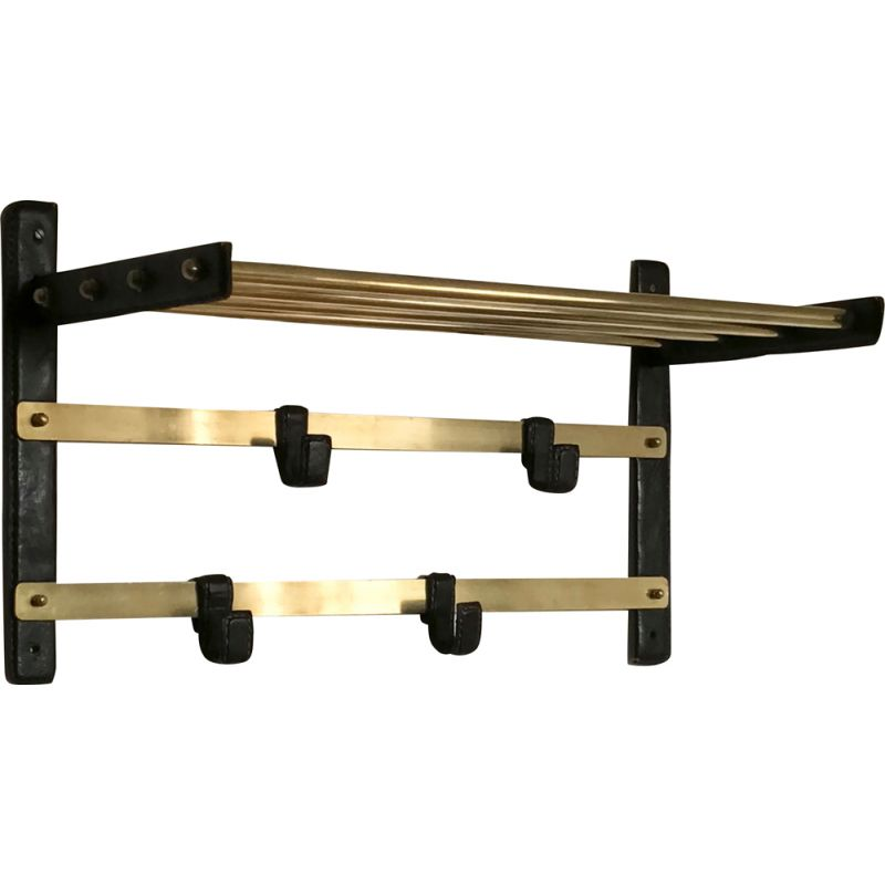 Vintage coat rack attributed to Jacques Adnet, 1950