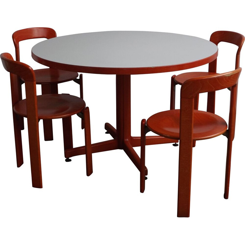 Vintage dining set by Bruno Rey, 1970s
