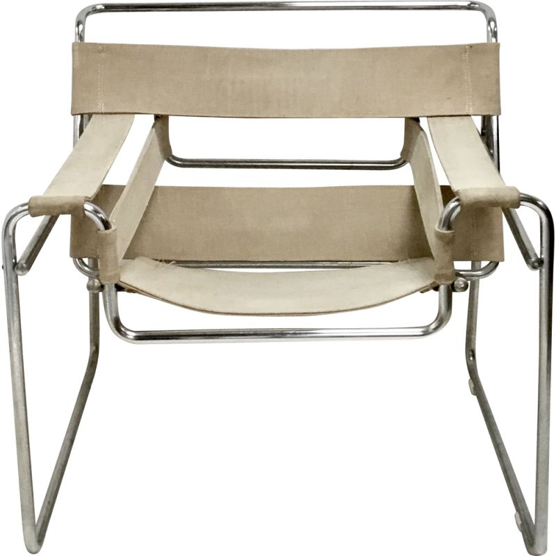Vintage B3 Wassily armchair by Marcel Breuer for Gavina, 1960s