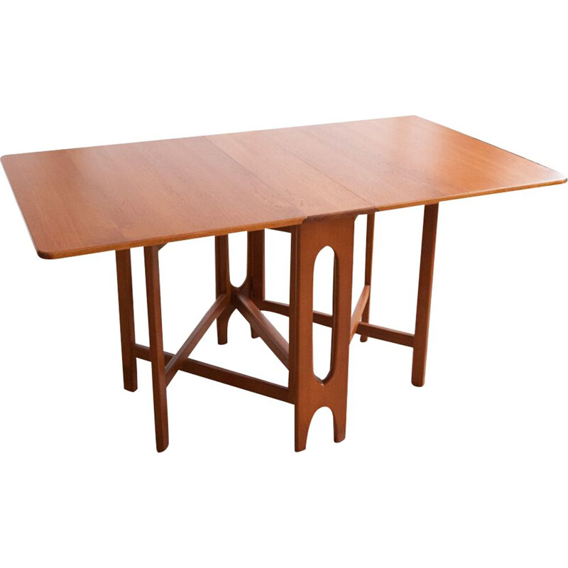 Scandinavian vintage table with flaps, 1960s