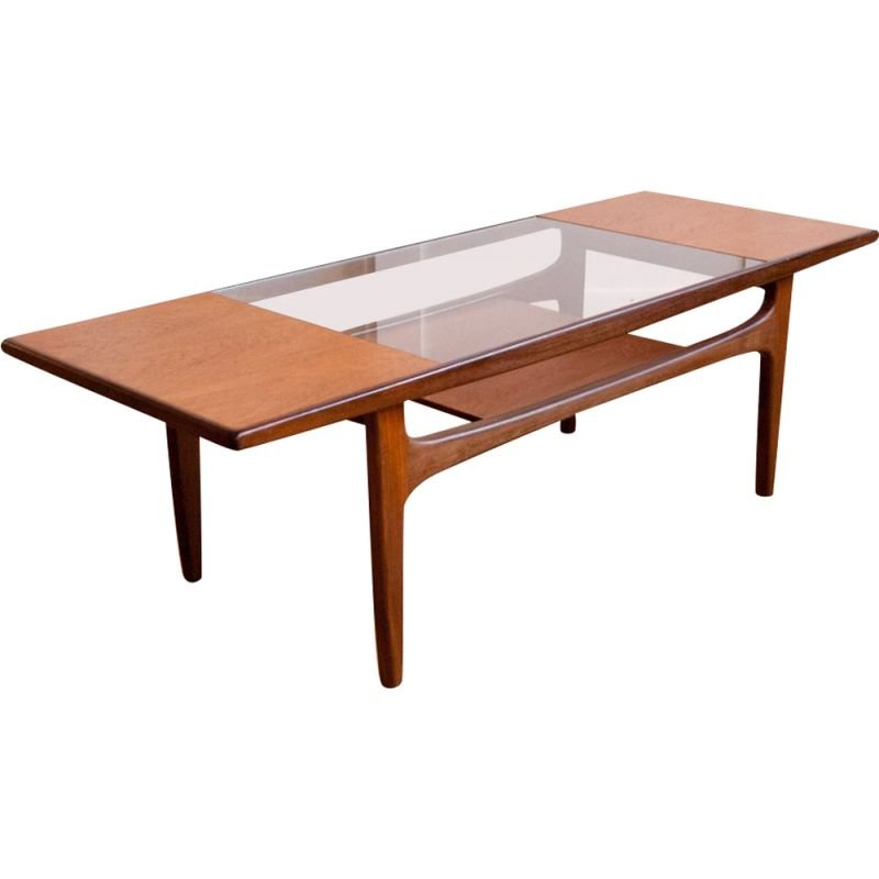 G-Plan teak and glass coffee table, 1960s