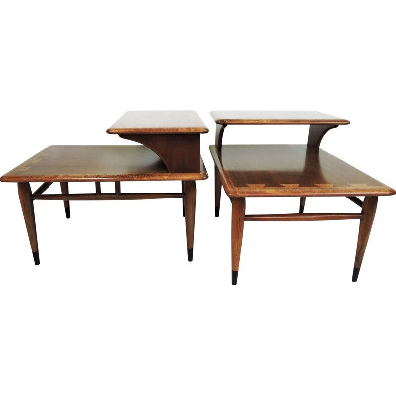 Set of 2 vintage side tables by Andre Bus for Lane Acclaim, 1950s