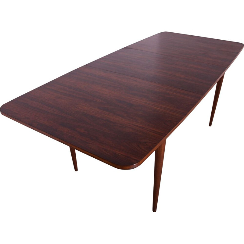 Vintage british rosewood dining table, 1960s