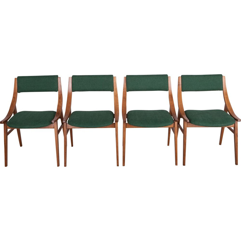 Set of 4 polish chairs from Zamojska Furniture Factory, 1970s