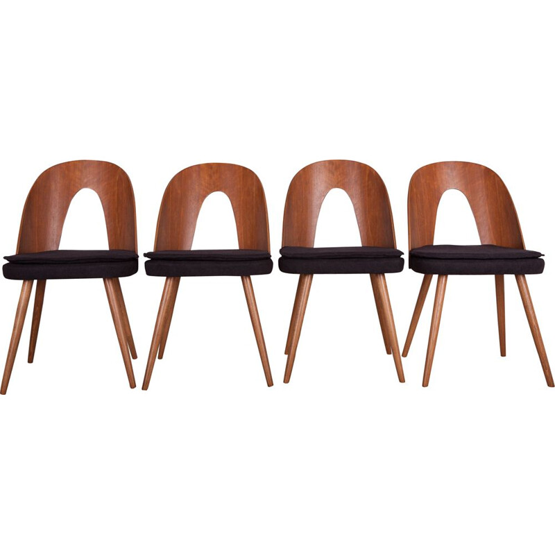 Set of 4 vintage dining chairs by Antonín Šuman for Tatra, 1960s
