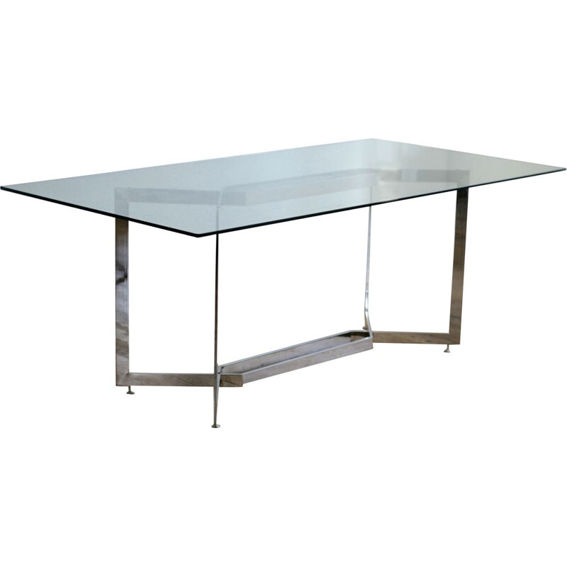 Vintage table by Paul Legeard, EDITION DOM, France, cira 1970