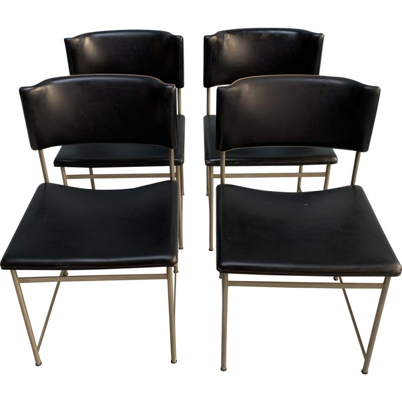 Set of 4 vintage chairs by Pastoe for Cees Braakman 1960s