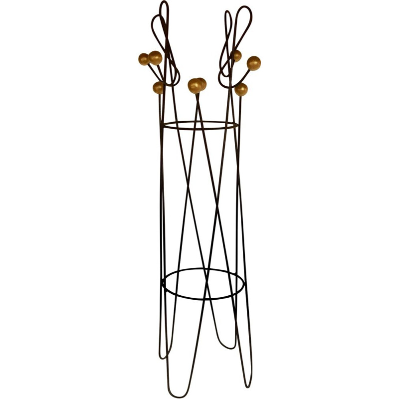 "Vintage ""Key of Sol"" coat rack by Roger Feraud, 1950"