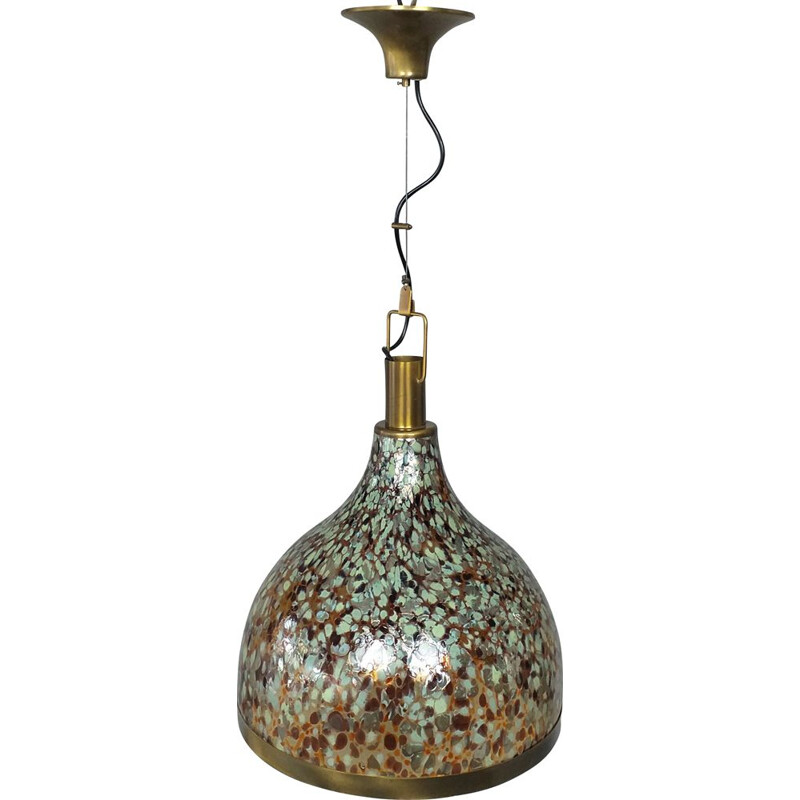 Vintage Bell hanging lamp from Murano, 1960