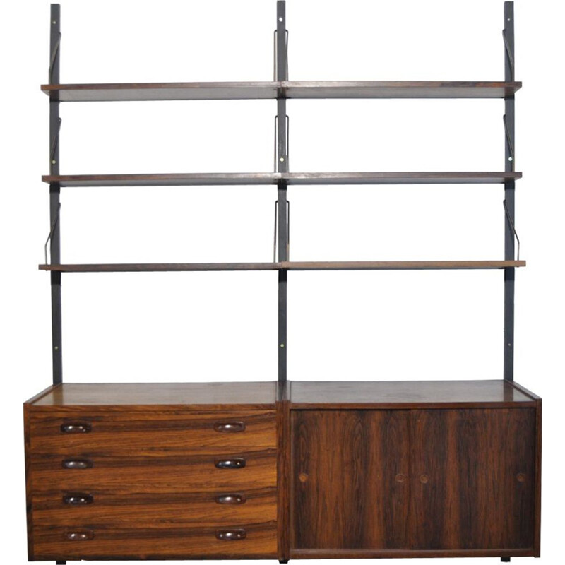 Vintage danish rosewood wall unit by Preben Sørensen for Randers Møbelfabrik, 1960