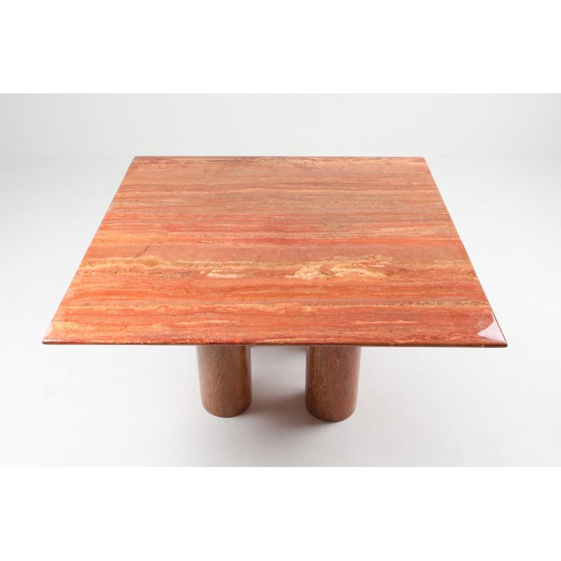 Enjoyable Vintage Red Travertine Il Collonato Dining Table By Mario Bellini 1970 Bralicious Painted Fabric Chair Ideas Braliciousco