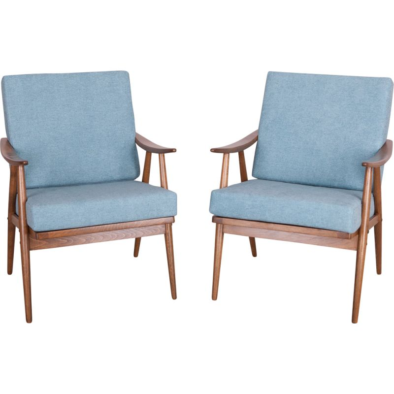 Set of 2 vintage armchairs from Ton Czech, 1960s
