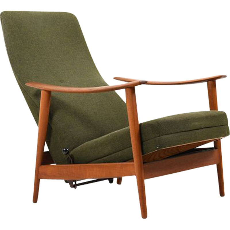 Danish reclining armchair in teak, 1960s