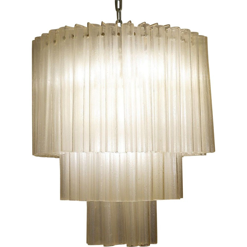 Vintage Salviati murano glass chandelier, 1960s