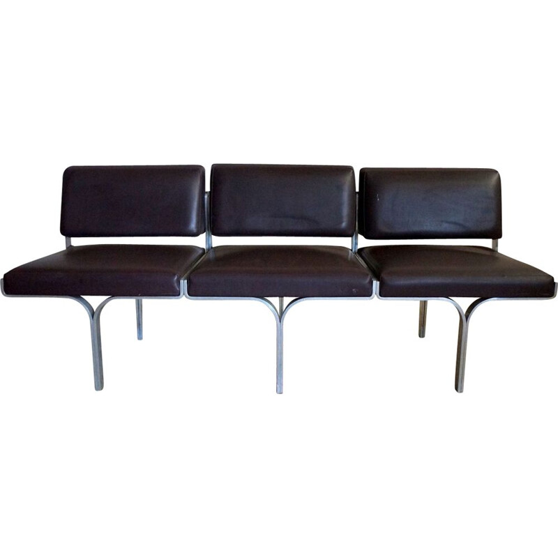Black vintage bench by John Behringer, 1960s