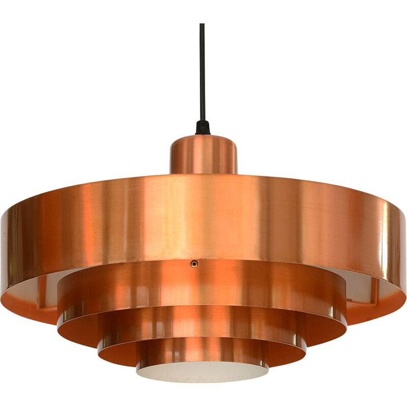 Vintage pendant light Roulet by Jo Hammerborg for Fog & Mørup, Denmark, 1960s