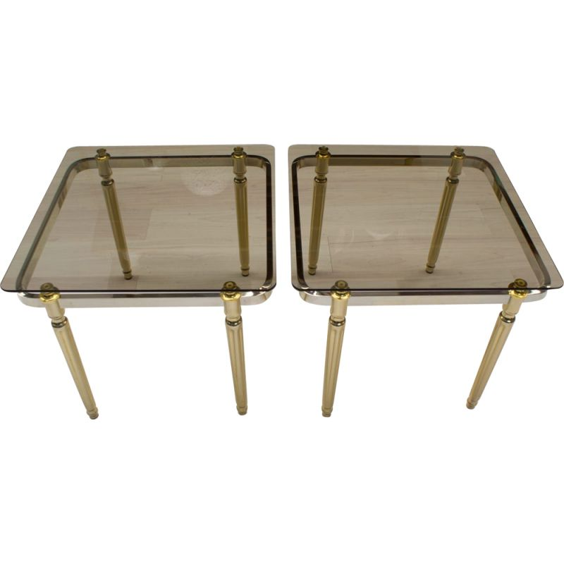 Set of 2 vintage coffee tables, 1970s