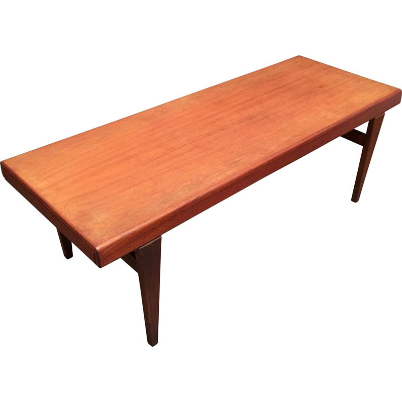 Vintage Scandinavian teak coffee table by Johannes Andersen, 1950s