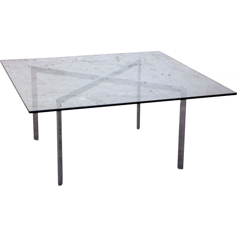 Vintage Barcelona coffee table by Mies Van der Rohe, Knoll publisher