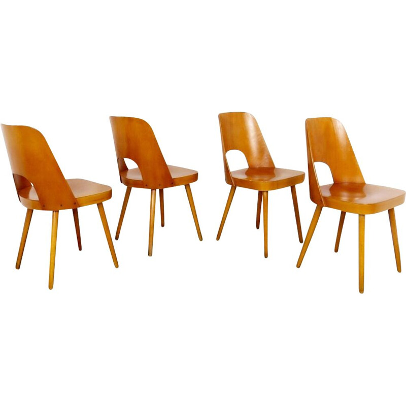 Set of 4 vintage dining chairs by Oswald Haerdtl, 1960s