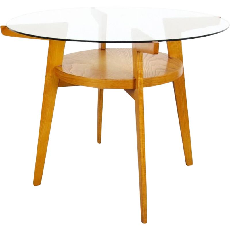 Vintage wooden coffee table by Jitona, 1960s