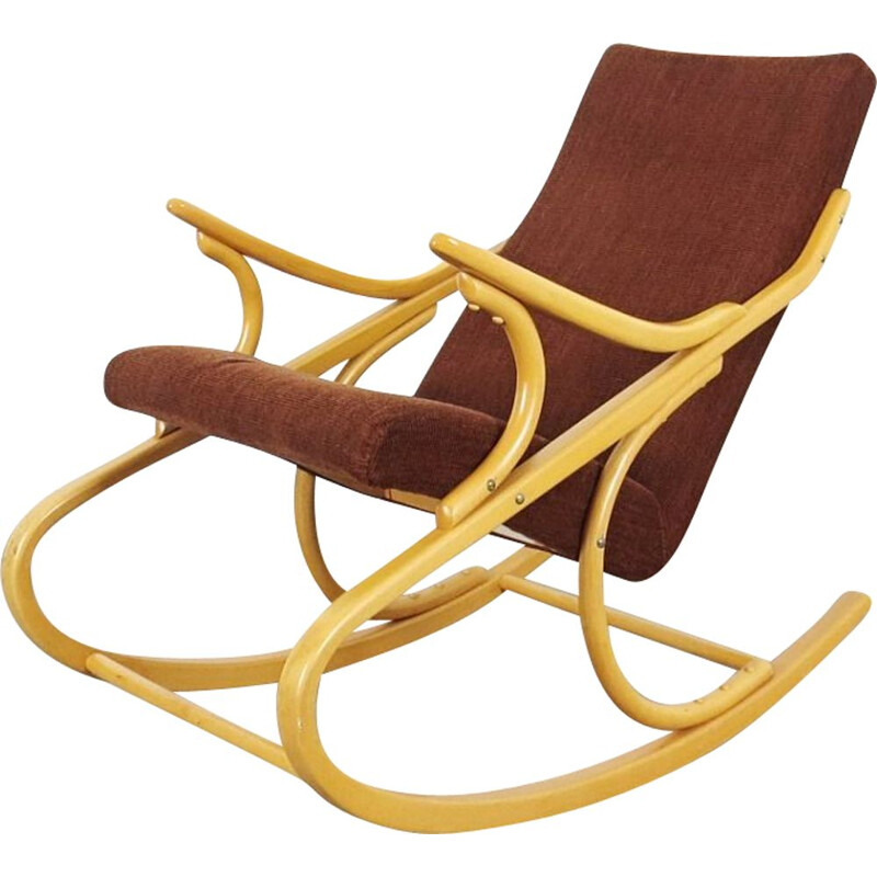 Vintage rocking chair by Antonin Suman, Czechoslovakia, 1960