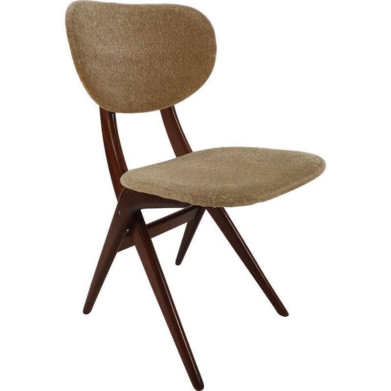 Vintage Dutch dining chair by Louis van Teeffelen for WéBé, 1950s