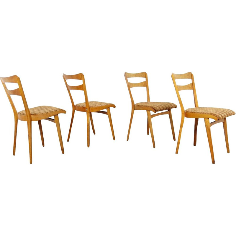 Set of 4 dining chairs by Frantisek Jirak, Czechoslovakia, 1960