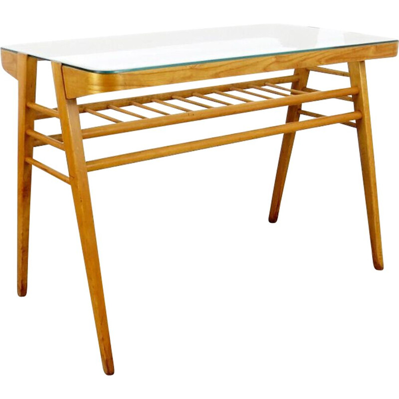 Vintage white table, Czechoslovakia, 1960
