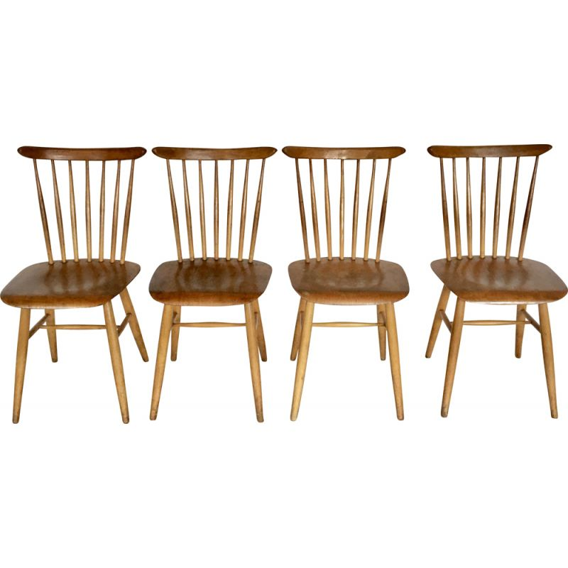 Set of 4 chairs for TON, Czechoslovakia, 1960