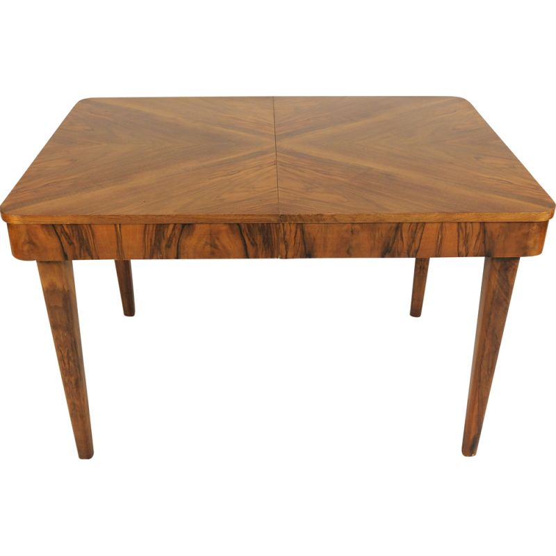 Vintage walnut side table by Jindřich Halabala for UP Závody, 1950s