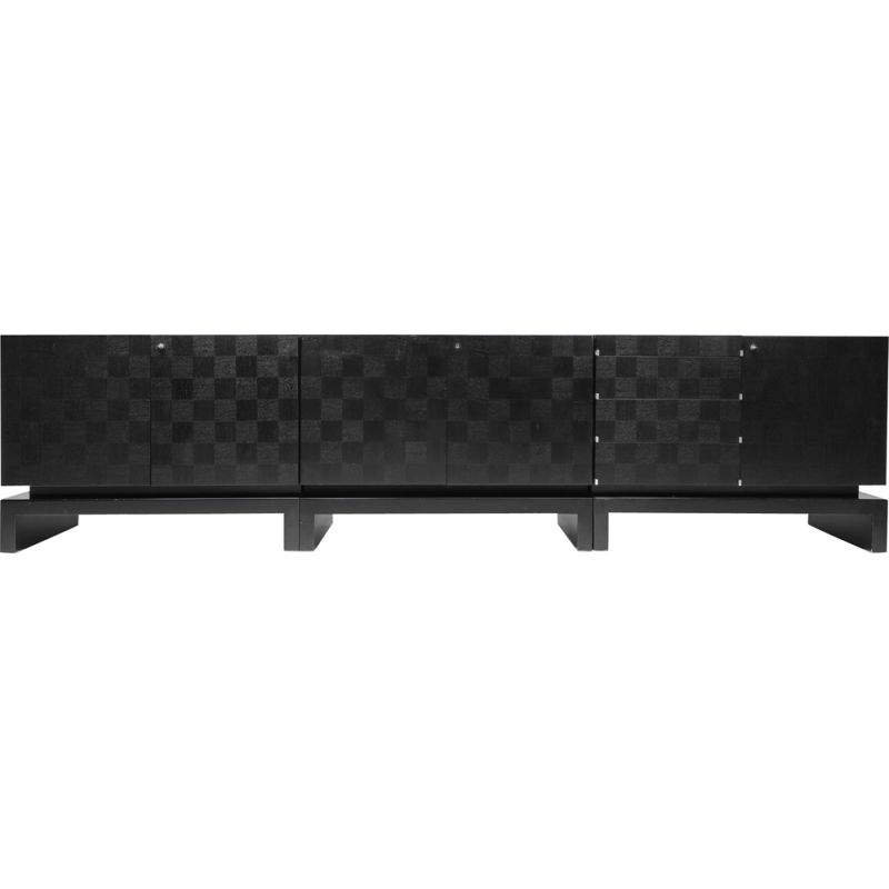 Vintage black sectional Credenza by De Coene, 1970s