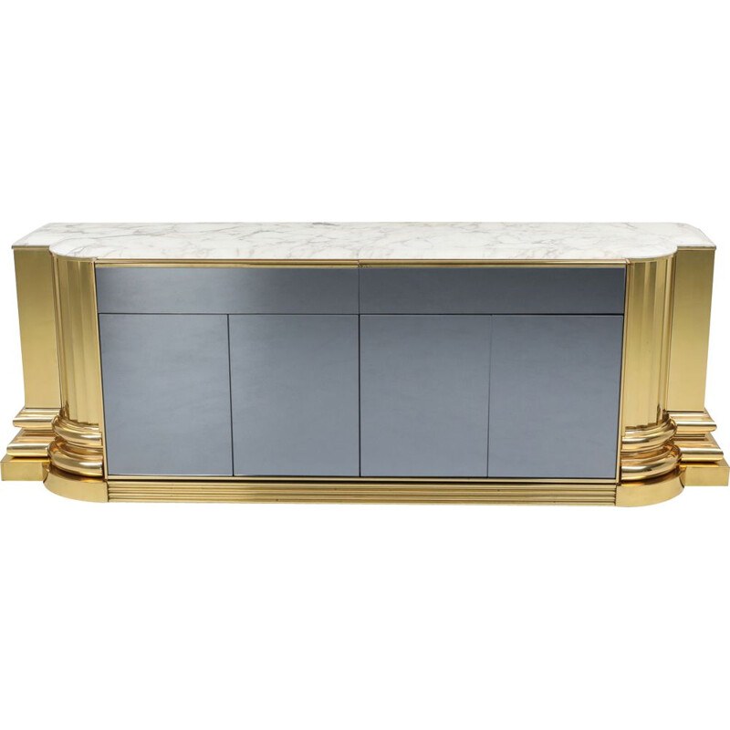 Vintage brass and marble Credenza by Sandro Petti for Maison Jansen 1970